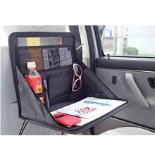 Travel Car Laptop Notebook Stand Holder Tray Bag Mount Back Seat Auto Food Work Table Organizer folding Car Seat Back Storage