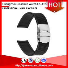 Newest products one piece rubber watch wrist band for swatch
