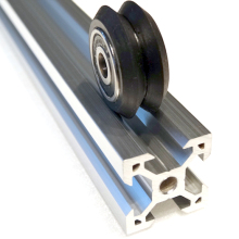 v slot rail aluminum profile extrusion manufactured by aluminum v slot profile factory