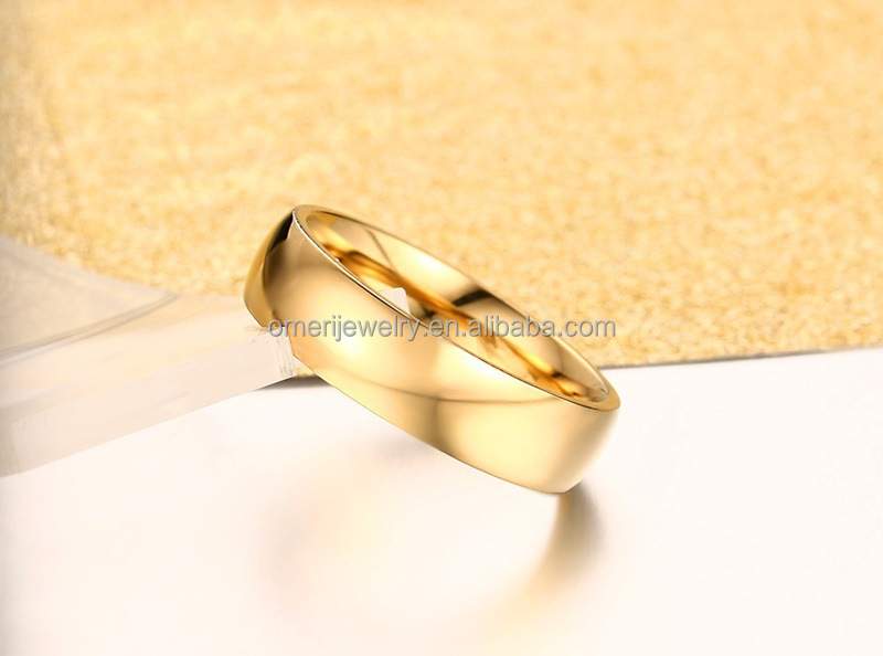 cheap wholesale men316l stainless steel gold ring