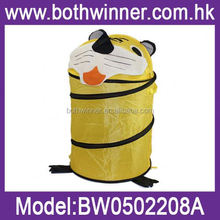 foldable mesh laundry basket ,H0T071 pop up animal shape foldable hamper , corner laundry basket