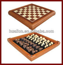 Antique Custom Made Wooden Chess Set Box