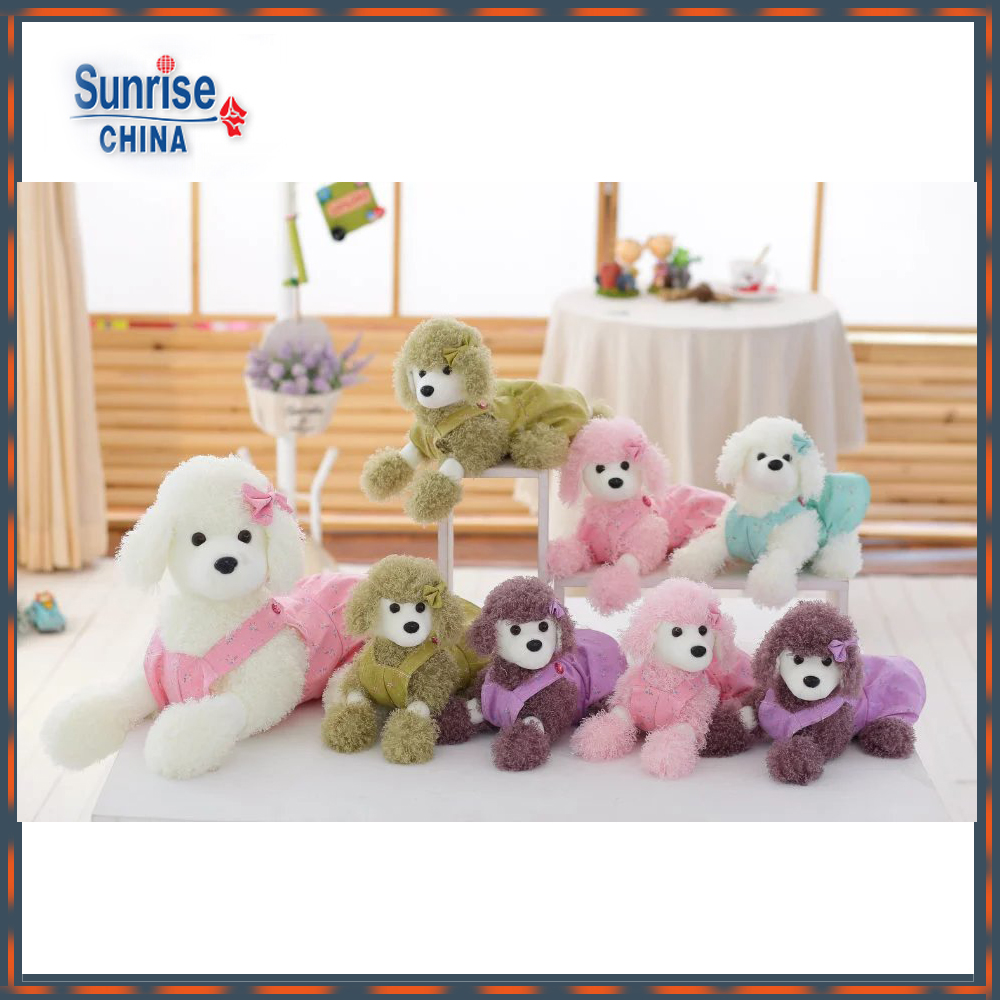 Hot Selling Stuffed Plush Poodle Plush Dog Animal Doll Toys for Sale(assorted)