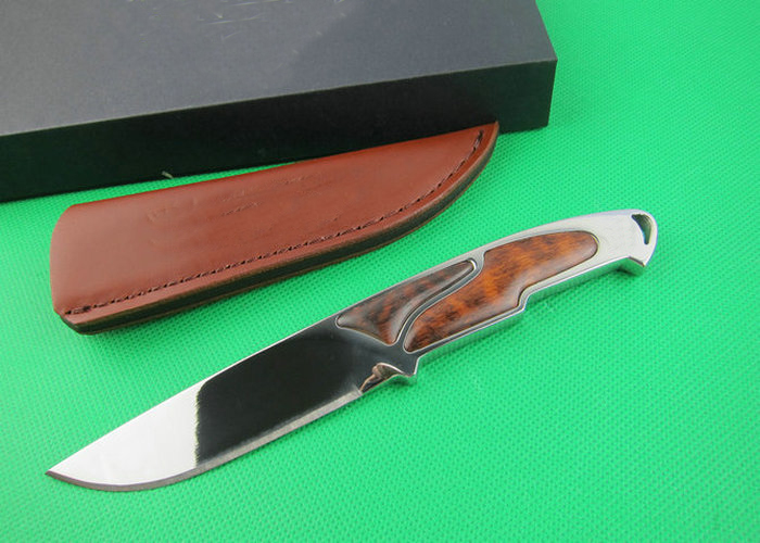 OEM tactical survival knives camping fixed blade knife rescue tool hand 8Cr18Mov 58HRC blade wood handle 1660