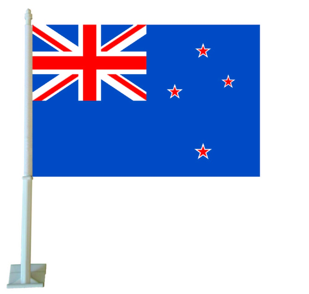 30x45 CM Double Sided New Zealand Car Flag With 50 CM Flagpole