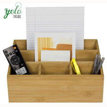 Multifunctional Wood <strong>Bamboo</strong> Desk Organizer Stationery, <strong>Pen</strong> Pencil <strong>Holder</strong>, Letter Rack