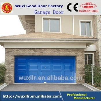 European Style Remote Control Aluminum Sandwich Panel Garage Sectional Door  With Window Inserts
