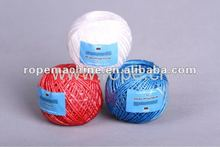Ropeking assorted color raffia splitfilm twisted pp yarn for sale