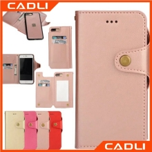 cadli leather cases wallet wallets ladies genuine leather raised phone case for iphone6