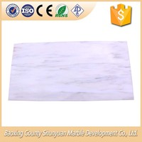 Chinese Supplier Simple Stylish Snow White Marble Tiles Floor Various Models