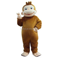 Hola curious george mascot costume adult