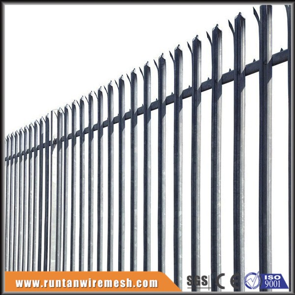 Hot dipped galvanized metal W D pale palisade fencing