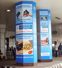Custom pillar vinyl wrap poster printing for outdoor mall advertising