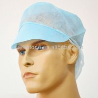 pp non woven snood cap with peak