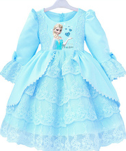 Hot-saleFrock Designs Child Clothes Fancy Snow Frozen <strong>Girl's</strong> <strong>Dresses</strong>