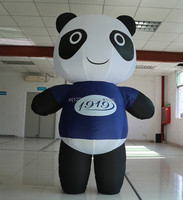 High Quality Cute Inflatable Panda Model For Advertising