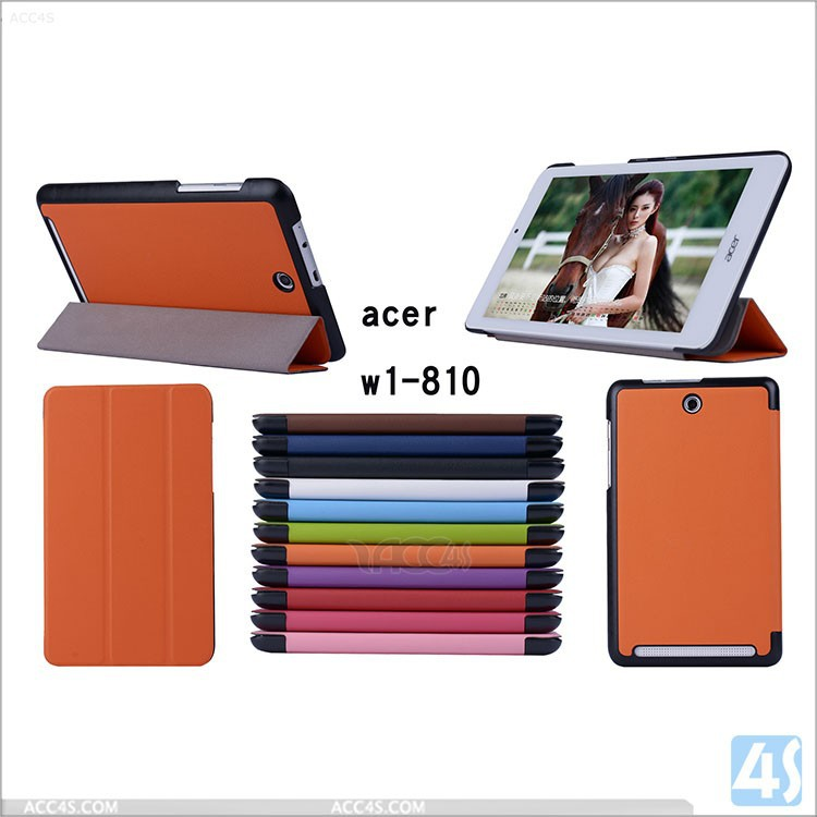Ultra-thin smart leather case for Acer Iconia Tab 8 W1-810 tablet
