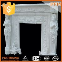 Wholesale hand-craved pebble gas fireplace