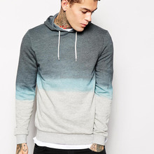 Gradient fleece fabric garment dyeing sweater, latest shirt designs for men, dip dye men hoodie