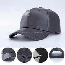 Unisex Adjustable Black PU custom leather baseball <strong>hat</strong> Cap <strong>Hat</strong>