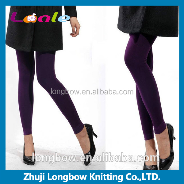 Colorful Brushed Velvet Seamless Warm Leggings for women