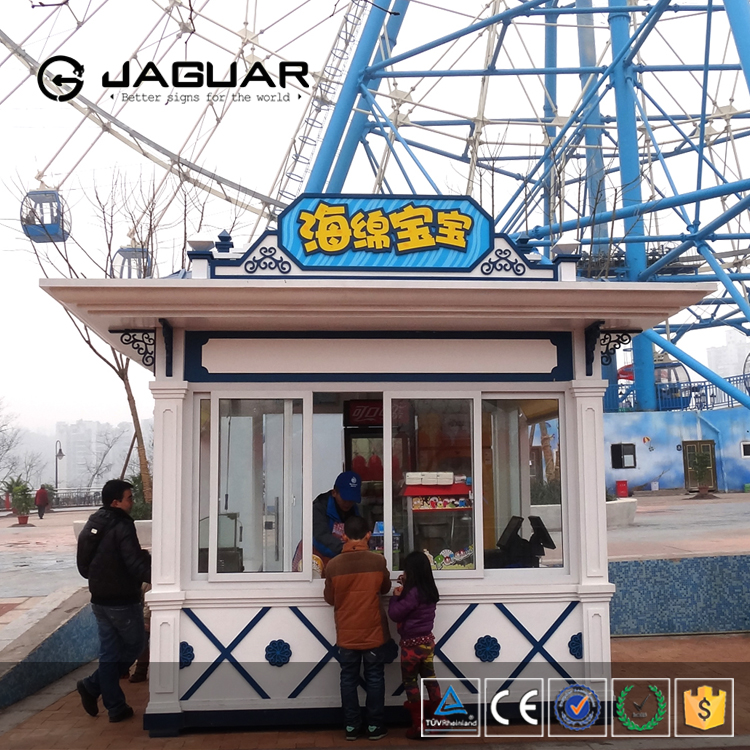 Outdoor free standing ticket selling small prefab concrete houses