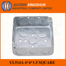 6% discount ul listed steel city 4'' square galvanized electrical junction box