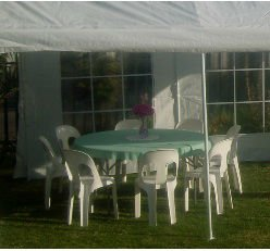 1.54m Round Plastic Folding Table and Chair Set