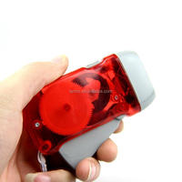 Portable Hand Crank Dynamo 3 LED Solar Powered Mini Camping Torch Emergency Light Flashlight for Outdoors hand crank torch s4