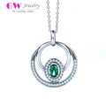 Globalwin fashion jewelry 2017 925 sterling silver pendant necklace with big stone