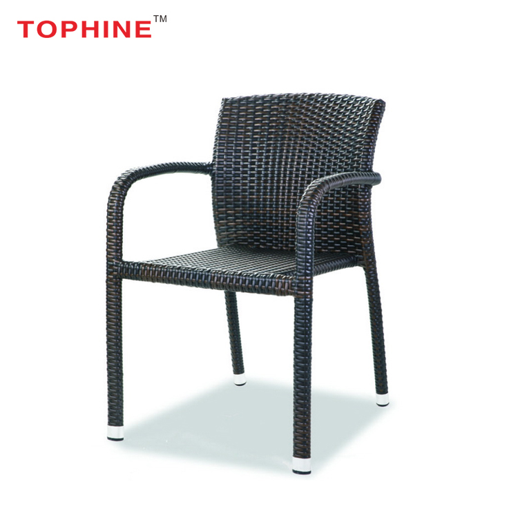 Commercial Contract TOPHINE Outdoor Furniture Colored Wicker Chairs For Balcony