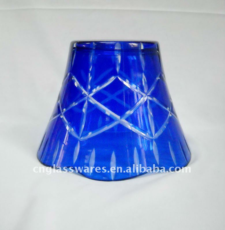 Colored glass lamp shade