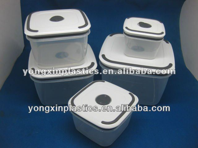 sectioned food containers in plastic for family food container