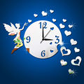 angel clock wall mirror decorative mirror luxury wall mirrors clock (B0332)