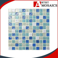 2015 most popular art glass mosaic picture from foshan