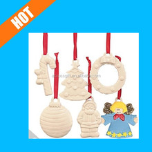 customized handmade painted white glazed DIY ceramic ornaments to paint