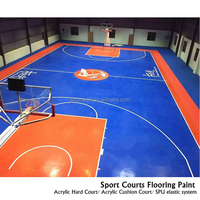 Eco-friendly polyurethane sport flooring for basketball court