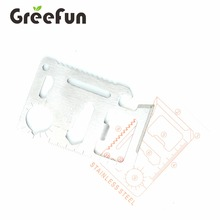 Factory price logo printed Multi Tool Pocket Knife Survival Outdoor Equipment Survival Credit Card Shape Knife