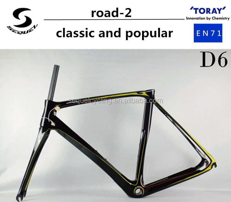 super light and elegant full carbon fiber bike road-2 UDt800 2 years warranty carbon bike frame