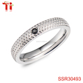 latest product 2017 fashion jewelry ring lady Go steel jewelry 316 stailess steel ring gold ring