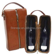 Wine Carrier, Wine Gift Box, Leather Wine Bag FN0125