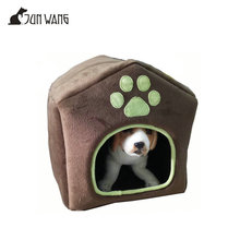 Wholesale factory direct for sale customized design bone pinted coffee soft small indoor dog house