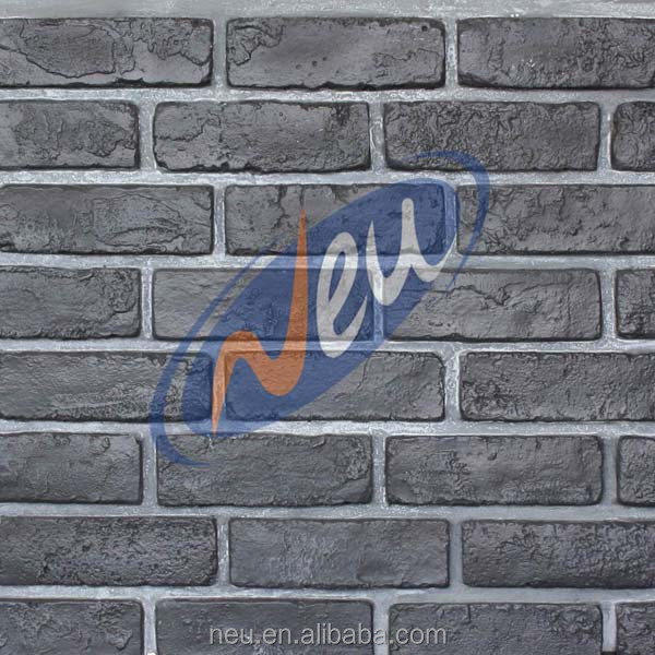 artificial stone fireplace, 3d insulative decoration faux brick wall paneling