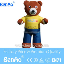 AC398 advertising inflatable animal cartoon, high quality inflatable brown bear replica