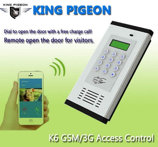 K6 Smart Phone Remote access control door lock system for home system gate opener