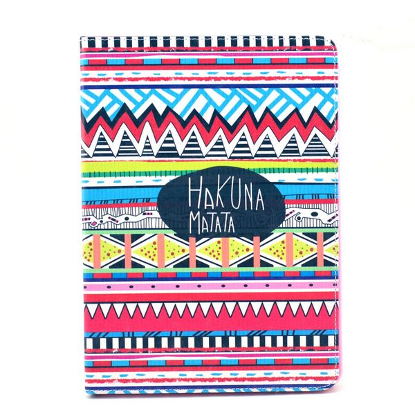 Book style tribal design leather flip case cover for Galaxy Note 10.1 P600