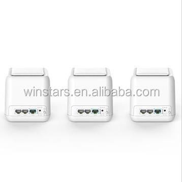 Dual band 3-pack Gigabit Whole Home Wireless WiFi Mesh Router and Satellites