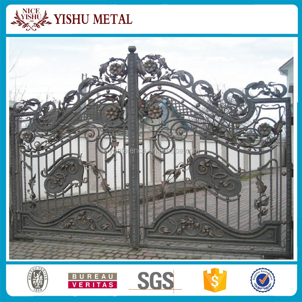 2017 hot sale metal modern fence and gates design
