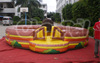 Inflatable farm bull riding machine for sale