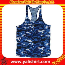 customized cheap plain blank racerback breathable camo print anti-shrink wholesale custom gym stringer vest